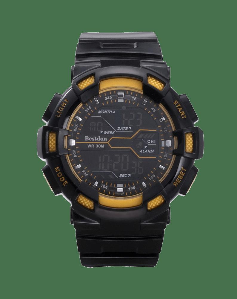 Bestdon Swiss Men's Sports Watches Digital Multifuction Display Time Yellow