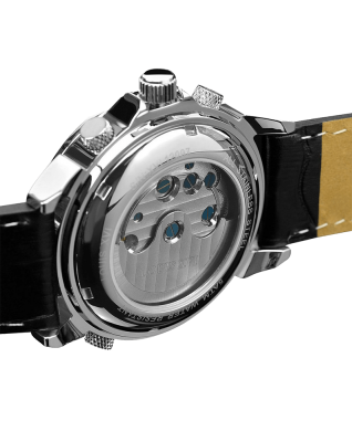 Louis XVI ATHOS L'argent Noir Sapphire Mechanical Automatic Watch