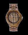 MEKU Montre Homme Handmade Wooden Wrist Quartz avec Solid Natural Zebrawood + Date Calendar
