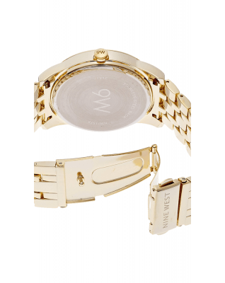 Nine West Women's NW-1578CHGB Champagne Dial Gold-Tone Bracelet Watch