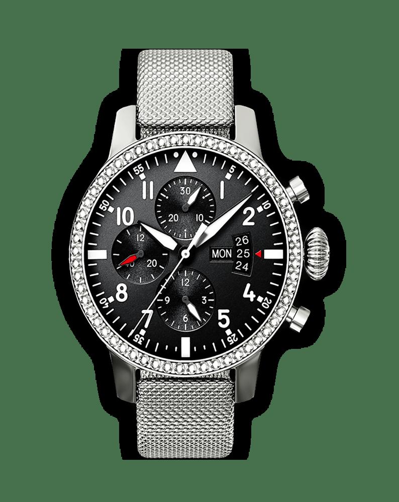 Bestdon Swiss Men's Sports Watches Quartz Analog Six Hands Black