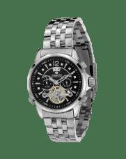 Louis XVI ATHOS L'argent Noir Sapphire Mechanical Automatic Watch